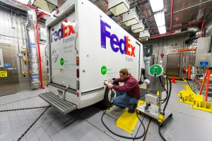 Charging a FedEx electric