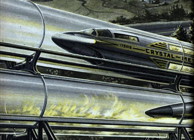 Fast Atomic Train in Glass Tube