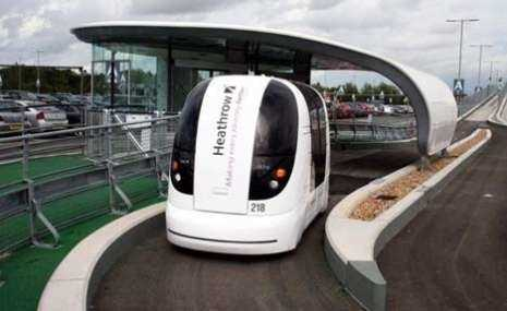 Self Driving PRT Pod Heathrow Airport