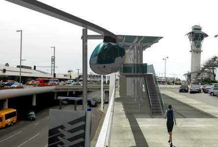 skyTran travel pod at LAX