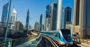 Advanced robotic metro rail in Dubai