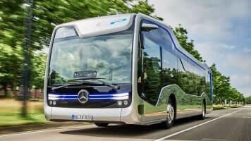 Mercedes Bus drives itself