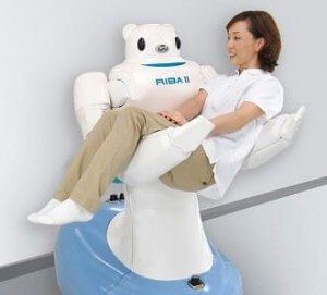 RIBA robot helps patients move about